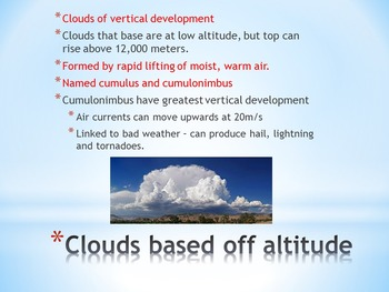 Clouds and Cloud Formation (Powerpoint, Notebook Activity)