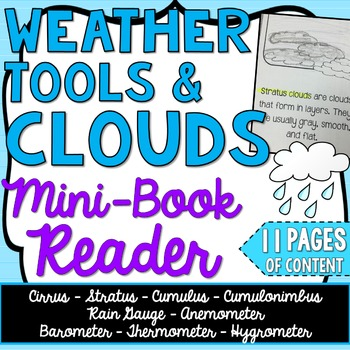 Clouds and Weather Instruments - Science Mini-Book - Earth Science