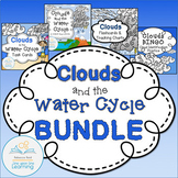 Clouds and the Water Cycle BUNDLE with Charts, Flash Cards, Task Cards, & BINGO