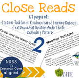 Clouds and the Water Cycle & Weather Patterns Close Read Text Dependent Bundle