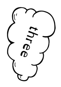 Clouds - numbers pack