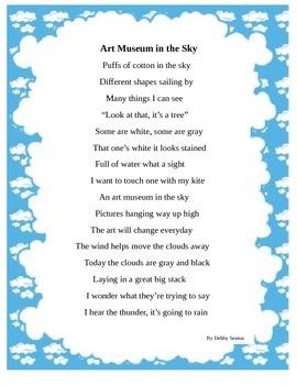 Clouds poem language arts or weather unit