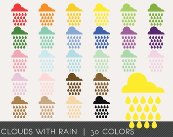 Clouds with rain Digital Clipart, Clouds with rain Graphics