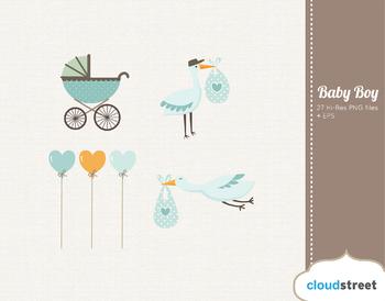 Cloudstreetlab: Baby Boy , Baby Shower Clip Art