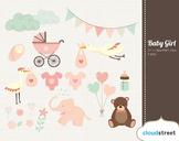 Cloudstreetlab: Baby Girl , Baby Shower Clip Art
