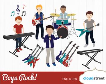 Cloudstreetlab: Boy Rocks , Boy Rock Band Clip Art