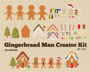 Cloudstreetlab: Build A Gingerbread Man , Gingerbread House , Christmas Clip Art