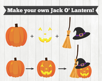 Cloudstreetlab: Build A Jack O'Lantern Carved Pumpkin Halloween Clip Art
