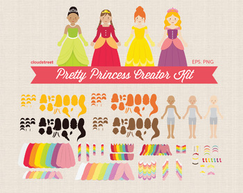 Cloudstreetlab: Build A Princess Clip Art