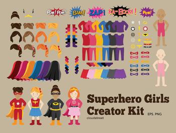 Cloudstreetlab: Build A Superhero , super hero girls