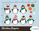 Cloudstreetlab: Christmas Penguins , Winter Cute Penguin Clip Art