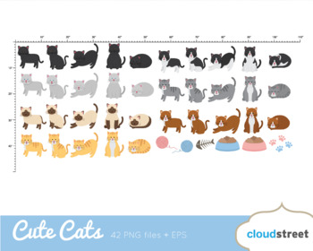 Cloudstreetlab: Cute Cats Clip Art