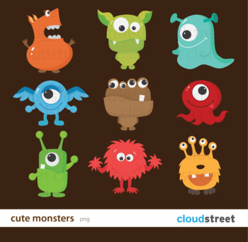 Cloudstreetlab: Cute Monsters