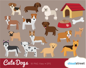 Cloudstreetlab: Dogs Clip Art , Cute Dog Clipart
