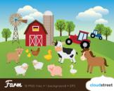Cloudstreetlab: Farm Animals, Barnyard Clip Art