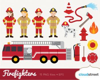 Cloudstreetlab: Fireman Firefighter Clip Art