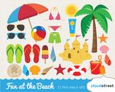 Cloudstreetlab: Fun at the Beach Summer Clip Art