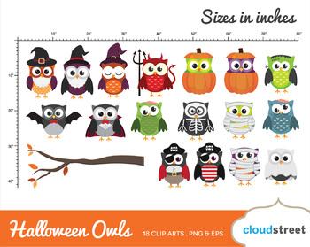 Cloudstreetlab: Halloween Owls , cute halloween owl Clip Art