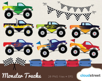Cloudstreetlab: Monster Trucks Clip Art