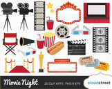 Cloudstreetlab: Movie Night, Cinema, Film, Movie Award Clip Art