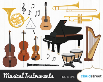 Cloudstreetlab: Musical Instrument , Classical Music Clip Art