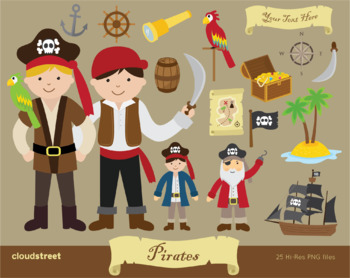 Cloudstreetlab: Pirate Boys Clip Art