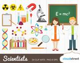 Cloudstreetlab: Science, Scientist Clip Art