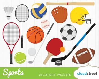 Cloudstreetlab: Sports Gear Sport Equipment Clip Art