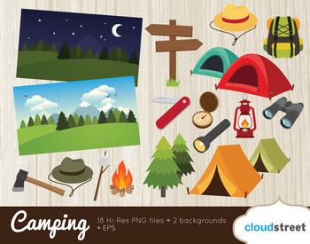 Cloudstreetlab: Summer Camp , Camping Clip Art