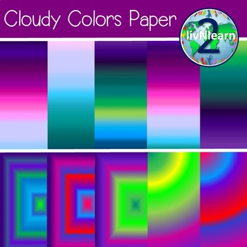 Cloudy Colors Paper FREEBIE!