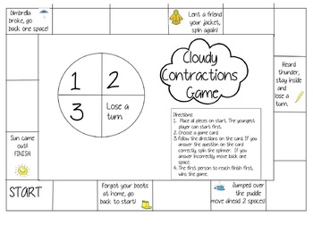 Cloudy Contraction Game