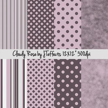 Cloudy Rose Digital Scrapbook Paper