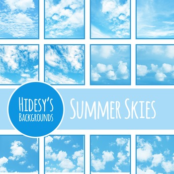 Cloudy Skies Backgrounds / Patterns / Digital Papers