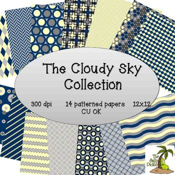 Cloudy Sky Paper Collection