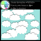 Cloudy Spring Day Background