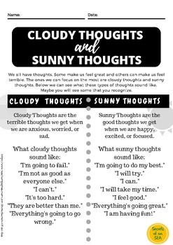 Cloudy Thoughts and Sunny Thoughts