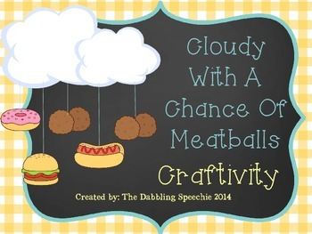 Cloudy With A Chance Of Meatballs Weather Mobile Craftivity FREEBIE!