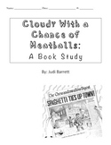 Cloudy With A Chance of Meatballs Comprehension Skills and Book Unit