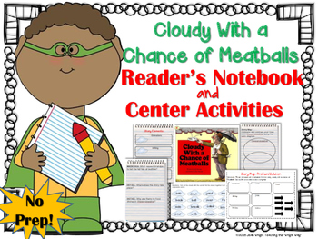Cloudy With a Chance of Meatballs {Book Study and Center Activities}