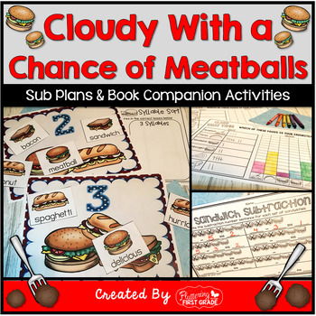 Cloudy With a Chance of Meatballs ~ Centers Activities for Common Core