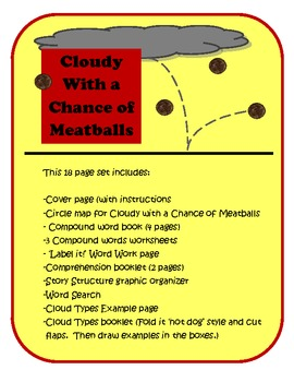 Cloudy With a Chance of Meatballs (ELA and Science)