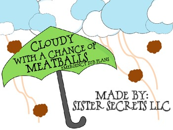 Cloudy With a Chance of Meatballs Emergency Sub Pack
