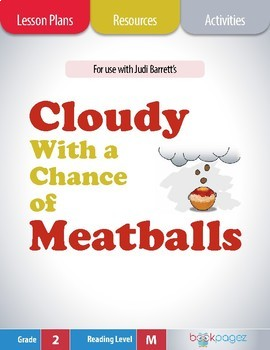 Cloudy With a Chance of Meatballs Lesson Plans & Activities Package,Second Grade
