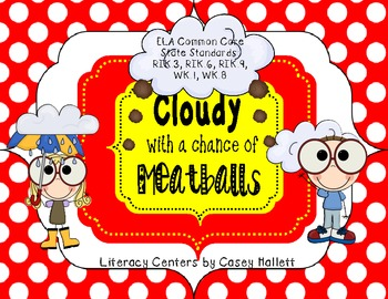 Cloudy With a Chance of Meatballs Mini-Literacy Unit {CCSS Aligned}