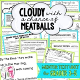 Cloudy With a Chance of Meatballs Reading Unit