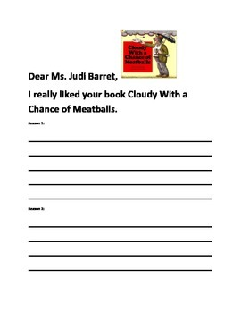 Cloudy With a Chance of Meatballs Sight Words and Writing