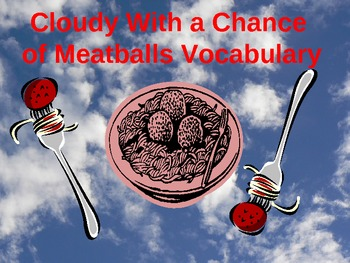 Cloudy With a Chance of Meatballs Vocabulary PPT