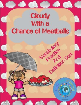 Cloudy With a Chance of Meatballs Vocabulary Test or Practice Editable