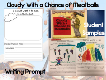 Cloudy With a Chance of Meatballs Writing Prompt FREE