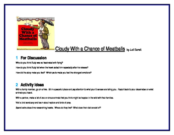 Cloudy With a Chance of Meatballs for Literature Circles